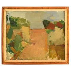 Lars Svan '1913-2003', Swedish Painter, Oil on Board, Modernist Landscape