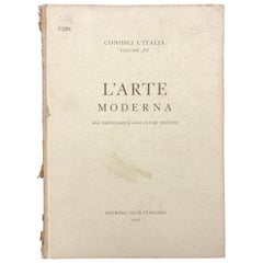 """L'Arte Moderna"" from the Neoclassical to the Last Decades, 1968 Milan"