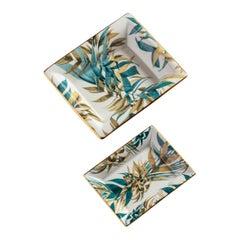Las Palmas, Contemporary Porcelain Pocket Emptier, Two Sizes, by Vito Nesta