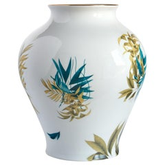 Las Palmas, Contemporary Porcelain Vase with Decorative Design by Vito Nesta