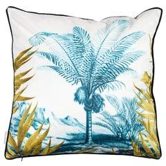 Las Palmas, Contemporary Velvet Printed Pillow by Vito Nesta