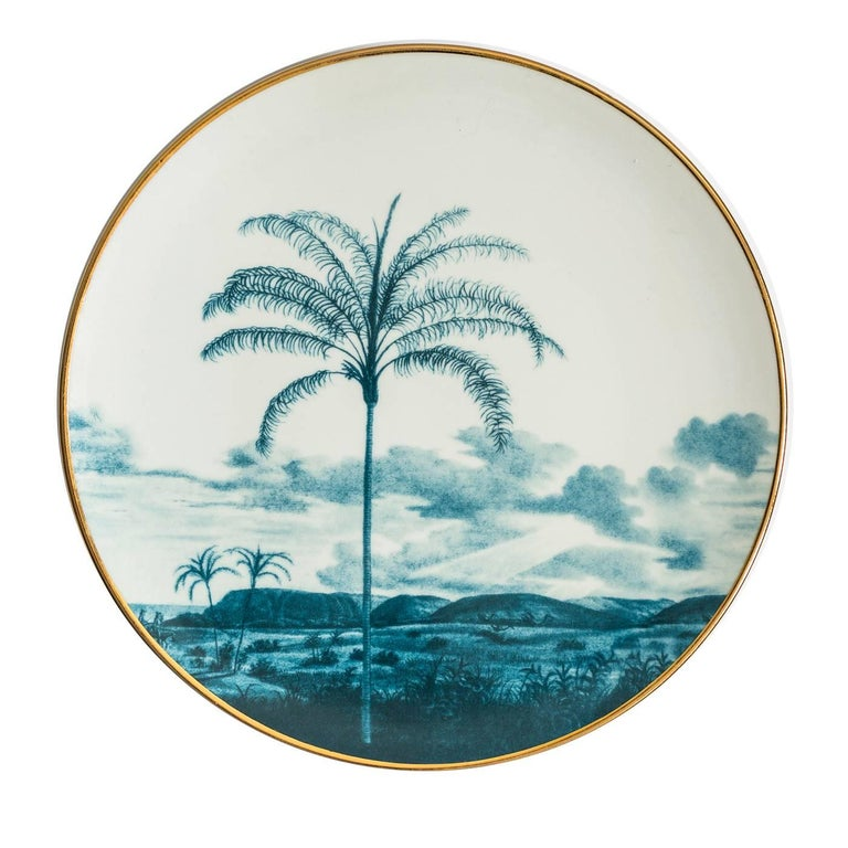 Las Palmas Set of Six Blue Plates In New Condition For Sale In Milan, IT