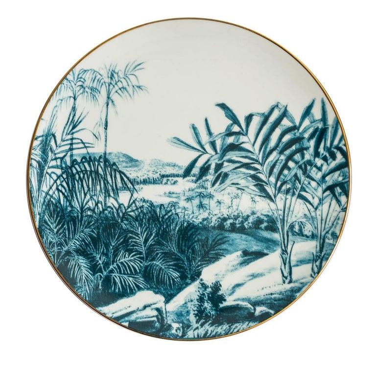 Contemporary Las Palmas Set of Six Blue Plates For Sale