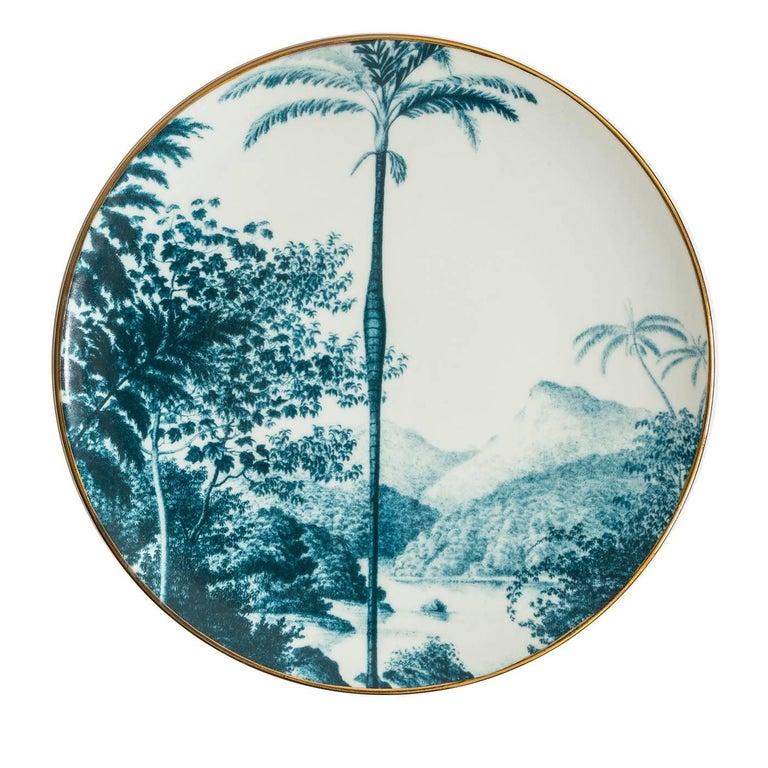 Las Palmas Set of Six Blue Plates For Sale 1