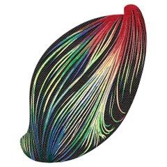 Laser Sun, Colorful Designer Hand-Knotted Rug