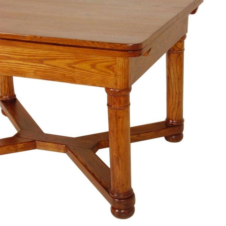 Last 19th Century Austrian Biedermeier Tyrolean Extending Table For Sale 1