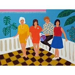'Last Night of the Holiday' Portrait Painting by Alan Fears Pop Art