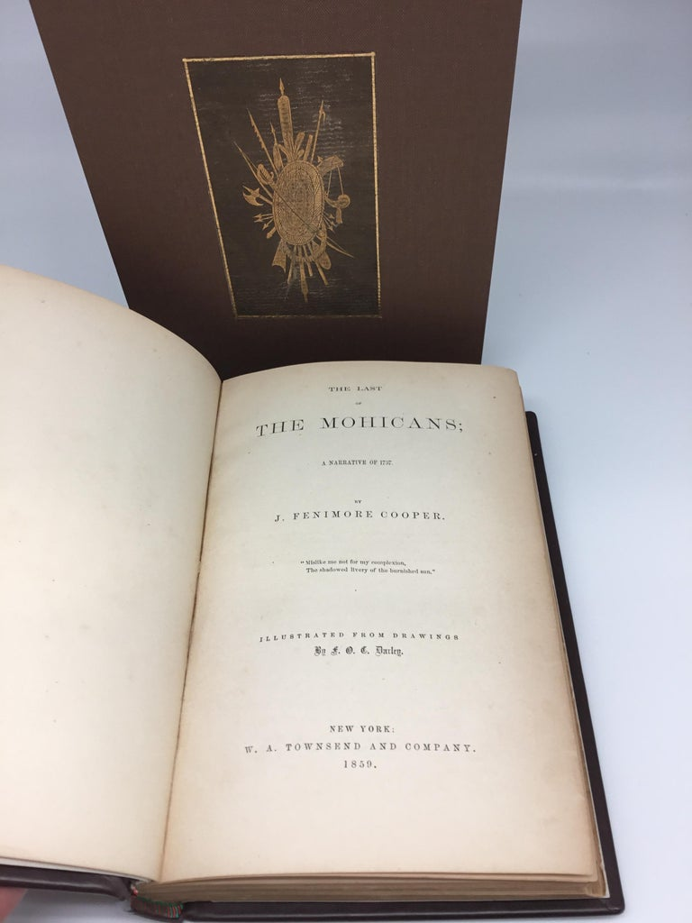 Last of the Mohicans with Signed James Fenimore Cooper Signed Check, 1859 For Sale 2