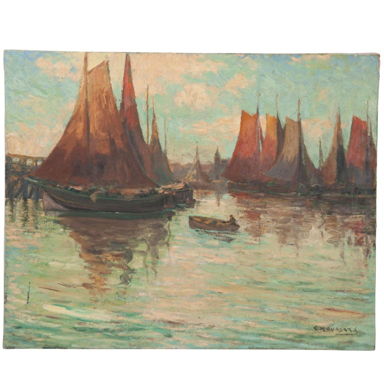 """""""Last Rays"""" Oil Painting by Charles-Claude Houssard For Sale"""