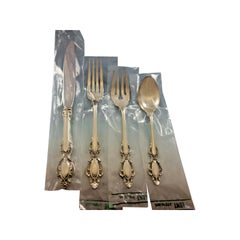 Lasting Grace by Lunt Sterling Silver Flatware Service for 12 Set 49 Pcs New