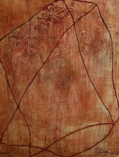Laszlo Lakner, Hungarian, 2001 painting, signed and dated. Abstract. Modern Art