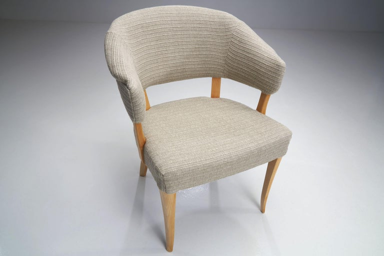 """""""Lata Greven"""" Pair of Armchairs by Carl Malmsten for AB OH Sjögren, Sweden, 1953 For Sale 3"""