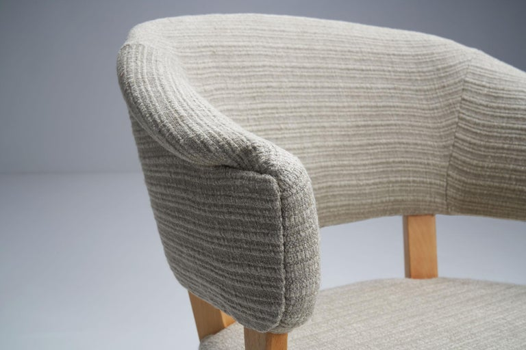 """""""Lata Greven"""" Pair of Armchairs by Carl Malmsten for AB OH Sjögren, Sweden, 1953 For Sale 4"""