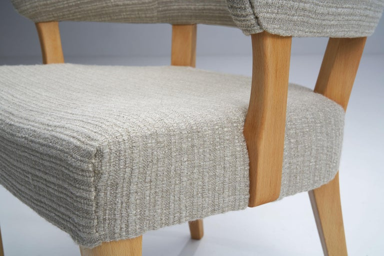 """""""Lata Greven"""" Pair of Armchairs by Carl Malmsten for AB OH Sjögren, Sweden, 1953 For Sale 11"""