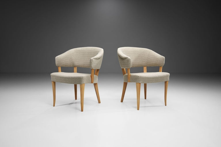 """Swedish """"Lata Greven"""" Pair of Armchairs by Carl Malmsten for AB OH Sjögren, Sweden, 1953 For Sale"""
