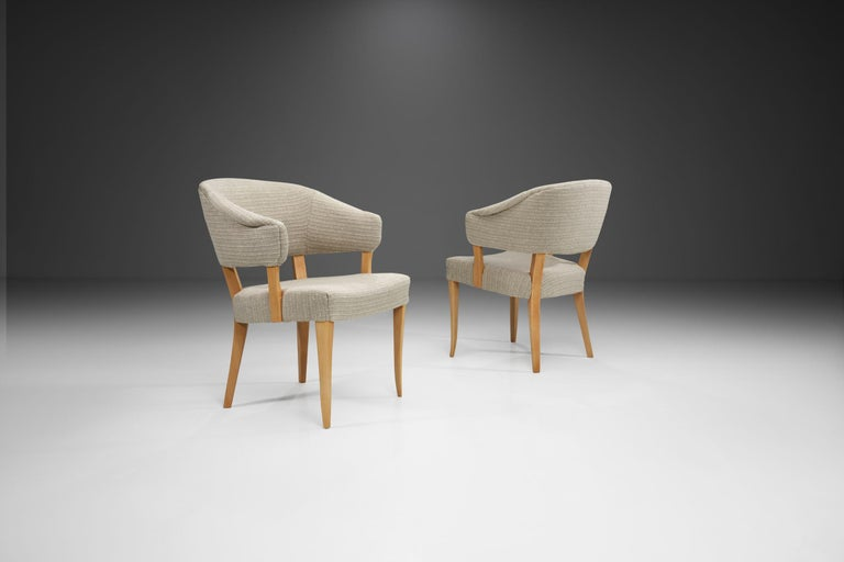 """""""Lata Greven"""" Pair of Armchairs by Carl Malmsten for AB OH Sjögren, Sweden, 1953 In Good Condition For Sale In Utrecht, NL"""