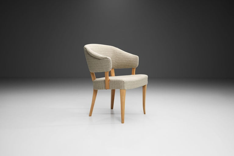 """Mid-20th Century """"Lata Greven"""" Pair of Armchairs by Carl Malmsten for AB OH Sjögren, Sweden, 1953 For Sale"""