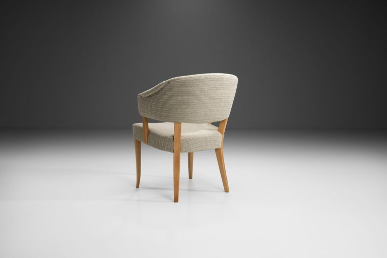 """Wood """"Lata Greven"""" Pair of Armchairs by Carl Malmsten for AB OH Sjögren, Sweden, 1953 For Sale"""