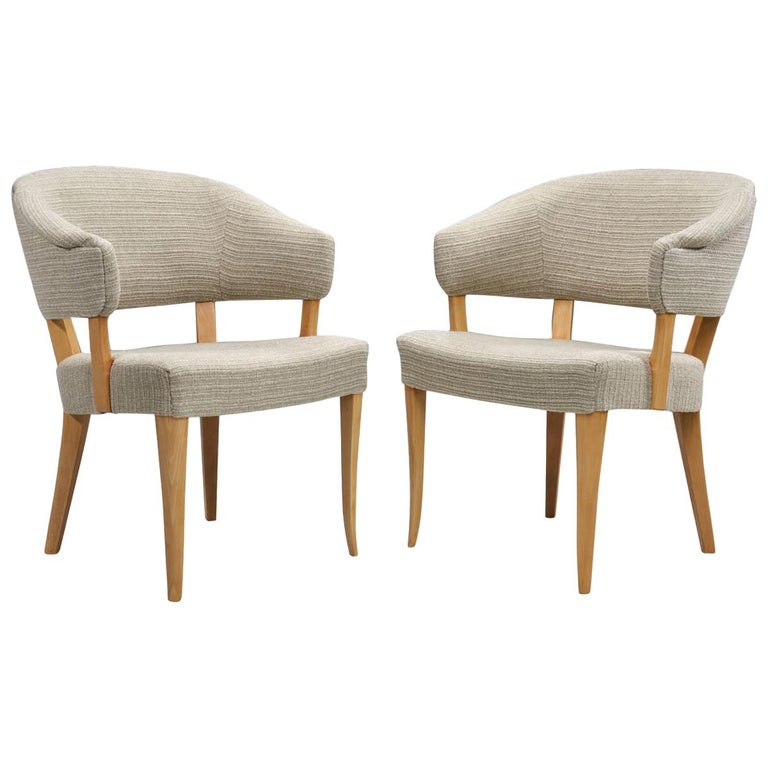 """""""Lata Greven"""" Pair of Armchairs by Carl Malmsten for AB OH Sjögren, Sweden, 1953 For Sale"""