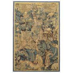 Flemish Verdure Tapestry, by Marche, with Feuilles De Choux Design