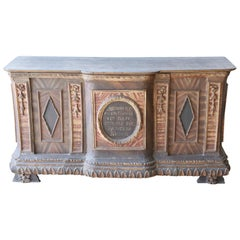 Late 16th Century Painting Wood Church Altar