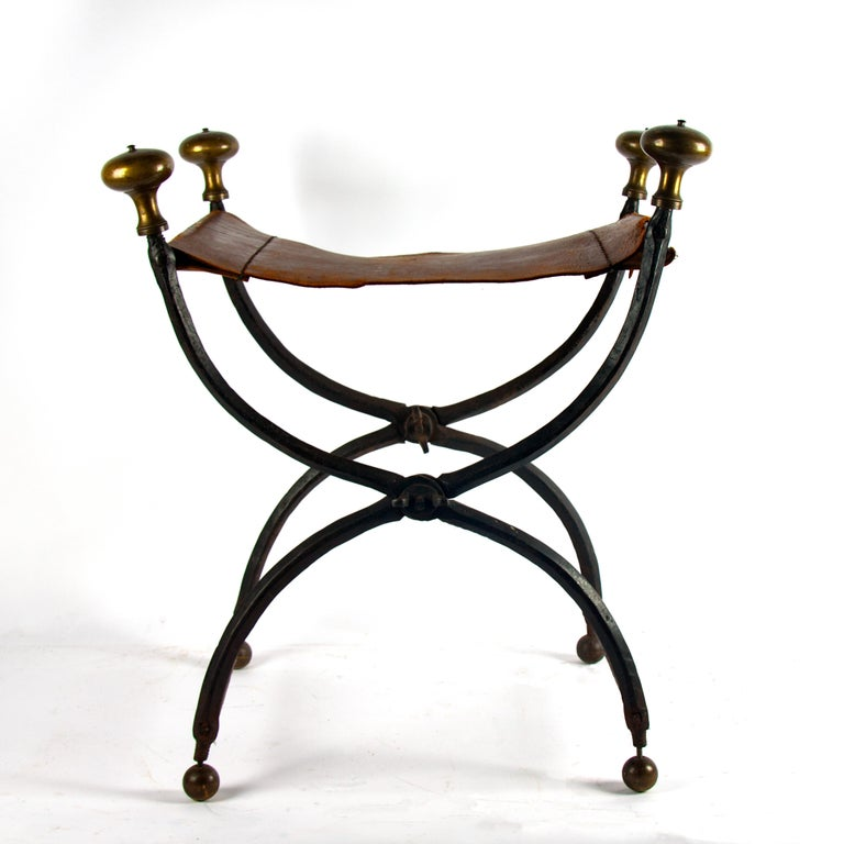 French Late 16th Century Renaissance Wrought Iron Stool For Sale