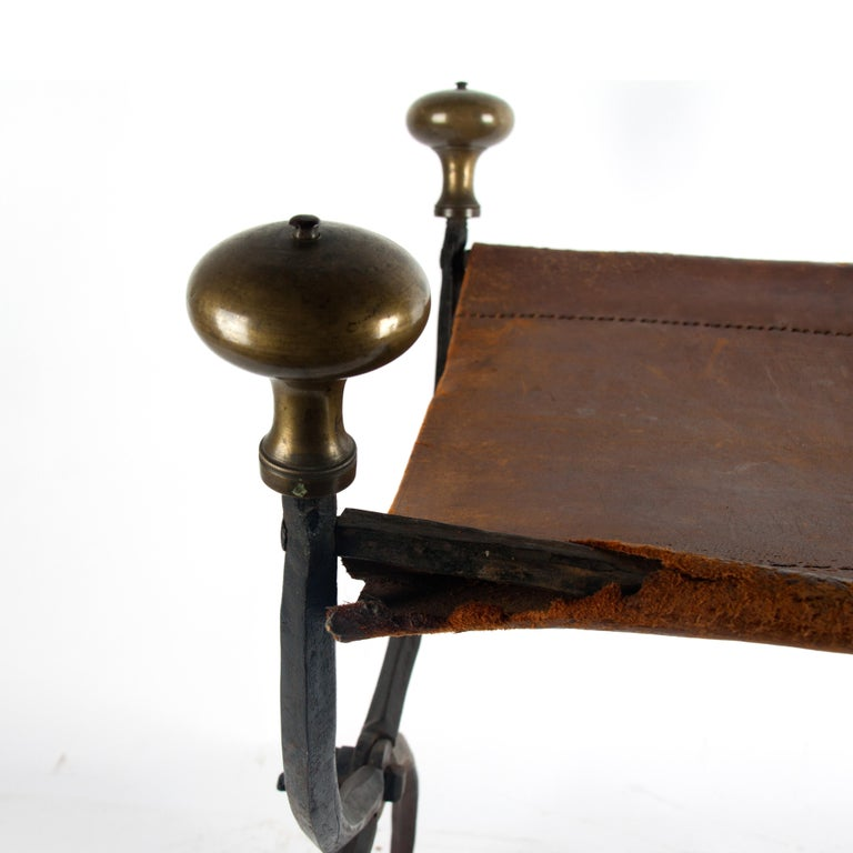 Late 16th Century Renaissance Wrought Iron Stool For Sale 2