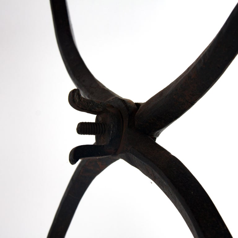 Late 16th Century Renaissance Wrought Iron Stool For Sale 4