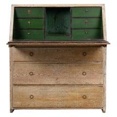 Late 1700s Northern Swedish Pine Country Secretary Desk