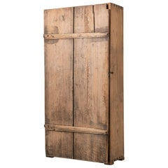 Late 1700s Primitive and Rustic Swedish Folk Art Cabinet