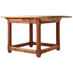 Late 1700s Swedish Rustic Baroque Centre Table