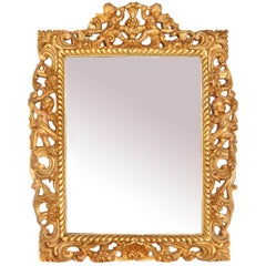 Late 17th Century English Charles II Giltwood Frame with Mirror