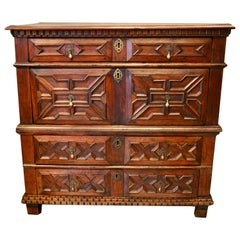 Late 17th Century English Walnut Geometric Chest of Drawers