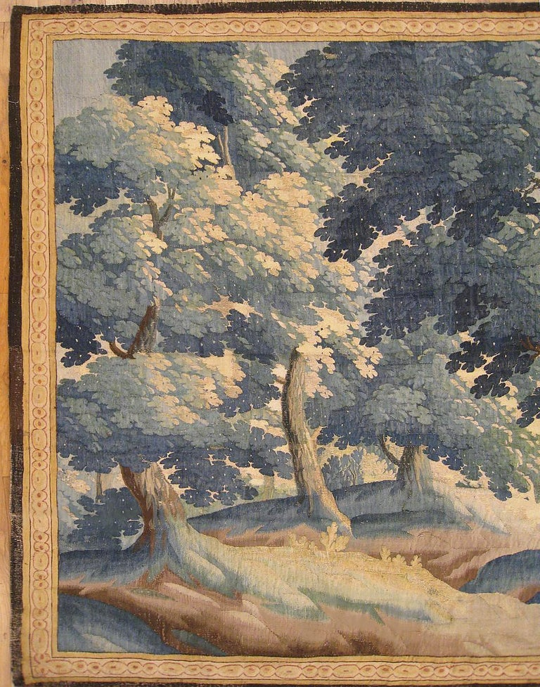 European Late 17th Century Flemish Pastoral Landscape Tapestry For Sale