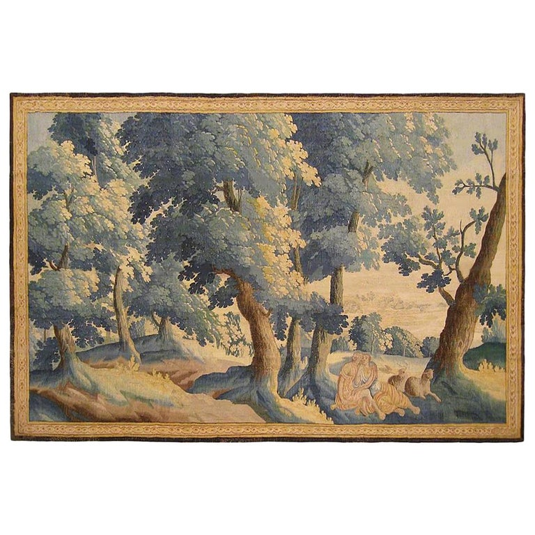 Late 17th Century Flemish Pastoral Landscape Tapestry For Sale