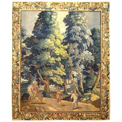 Late 17th Century Flemish Rustic Tapestry, with a Nobleman on Horseback