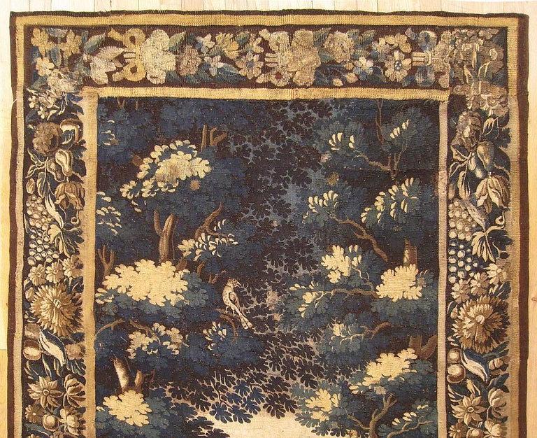 Late 17th Century Flemish Verdure Landscape Tapestry In Good Condition For Sale In New York, NY