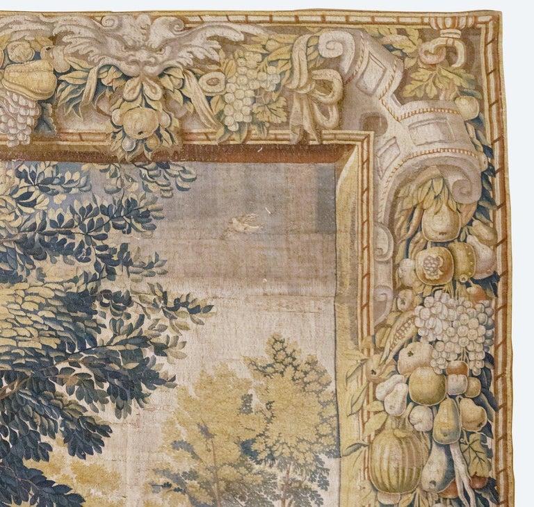 Belgian Late 17th Century Franco-Flemish Verdure Tapestry For Sale