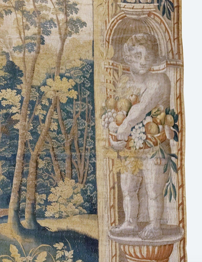 Hand-Woven Late 17th Century Franco-Flemish Verdure Tapestry For Sale