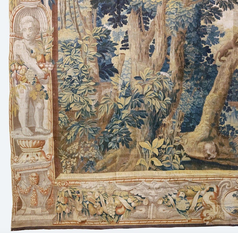 Late 17th Century Franco-Flemish Verdure Tapestry In Good Condition For Sale In New York, NY