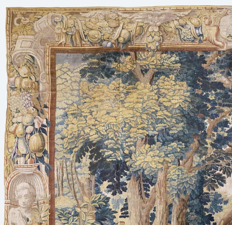 Late 17th Century Franco-Flemish Verdure Tapestry For Sale 1