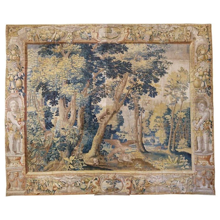 Late 17th Century Franco-Flemish Verdure Tapestry For Sale