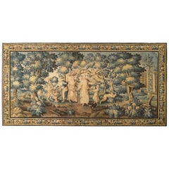 Late 17th Century French Aubusson Allegorical Tapestry