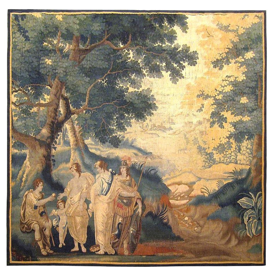 Late 17th Century French Aubusson Mythological Tapestry, Judgement of Paris
