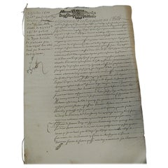 Late 17th Century French Legal Document