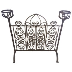 Late 17th Century French Wrought Iron Firewall