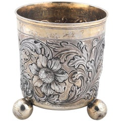 Late 17th Century German Silver Beaker