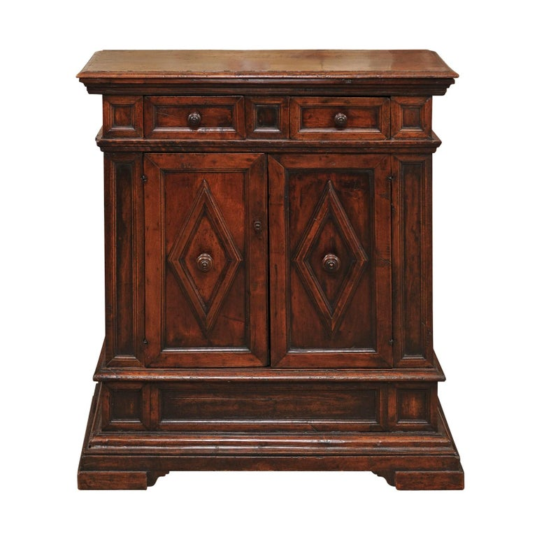 Late 17th Century Italian Baroque Walnut Credenza For Sale