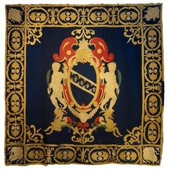 Late 17th Century Italian Heraldic Coat of Arms Tapestry, Lucca, circa 1690