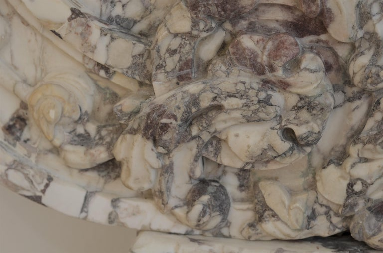 Antique Fireplace Mantel in Breche Violet Marble For Sale 8